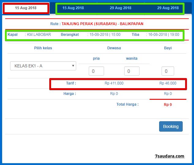 Jadwal Keberangkatan Dan Harga Tiket Kapal Pelni Km Labobar